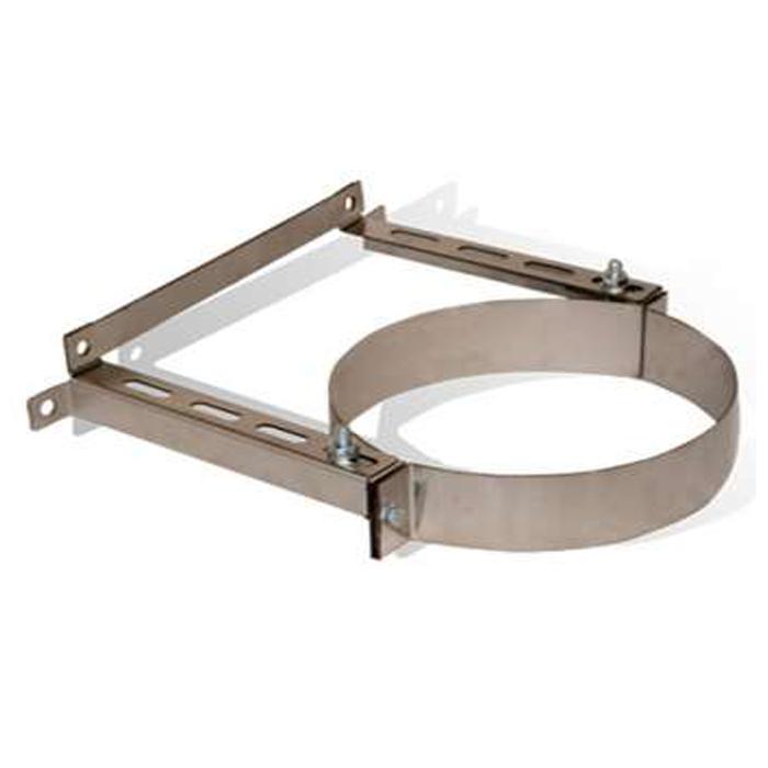 Хомут настенный 300 мм (0-100 мм) из нержавеющей стали для крепления трубы дымохода «Версия Люкс»