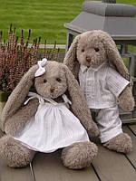 Серые зайцы (девчонка, мальчик) 38cm