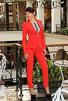 Костюм женский брючный Classic_red, фото 1