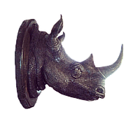Настенный декор - голова носорога (большой)