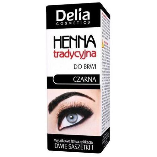Краска-хна для бровей  - черная, Delia