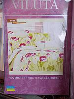 """Постельное белье """"Viluta"""", двуспальный набор, 220х200, рисунок с цветами, фото 1"""