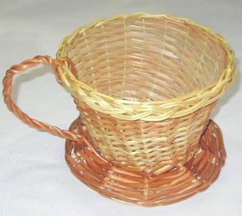 Корзина плетенная 14*15 см  Чашка