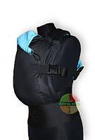 """Эрго-рюкзак Близнецы """"Черный с голубым"""" (двусторонний ), фото 1"""
