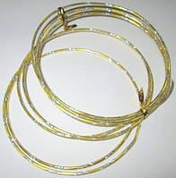 Проволока 2 мм; 2 м, золотая с насечкой