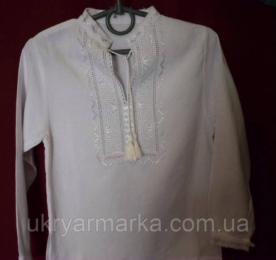 """Вишивана сорочка для хлопчика """"Білим по білому"""""""