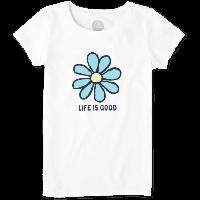 Детская футболка для девочек Life Is Good Girls Daisy Life Is Good Tee