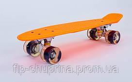 Скейтборд пластиковий Penny22in зі світними колесами