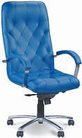 Кресло в офис хромированное Куба (Cuba) steel chrome Новый Стиль LE-A