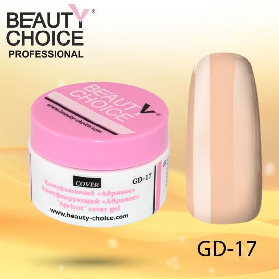 """Камуфлирующий гель """"Абрикос"""", Beauty Choice, GD-17, 14 мл"""