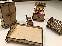 Мебель для кукольного домика. Спальня.