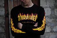 Свитшот стильный   Thrasher Flame fire   Кофта с огненными рукавами, фото 1