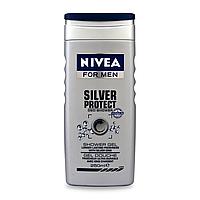 Гель для душа для мужчин Nivea Men серебряный защиту 250 мл