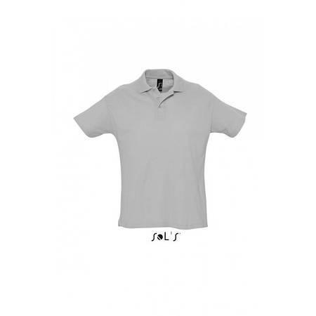 Рубашка поло серая (меланж) SOL'S SUMMER II, размеры от S до 3XL, плотность 170 г/м2