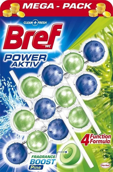 Кульки для унітазу Bref power aktiv pine 3x50 р (Хвойна свіжість)