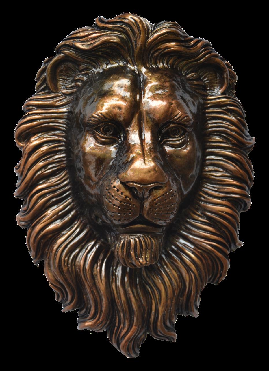 Голова льва - настенный декор, фото 1