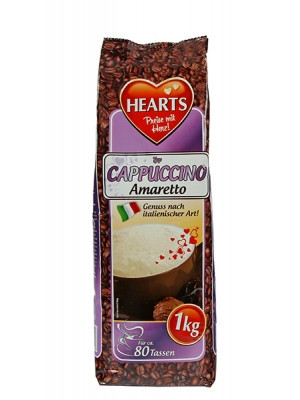 Капучино Hearts Cappuccino Amaretto 1 кг / 80 порций.