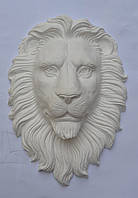 Скульптура головы льва из гипса, фото 1