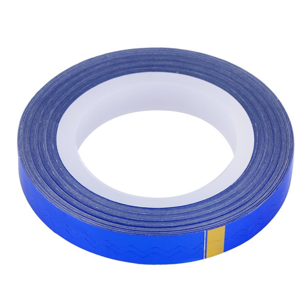 Лента для дизайна ногтей, синий голографик, 20 м