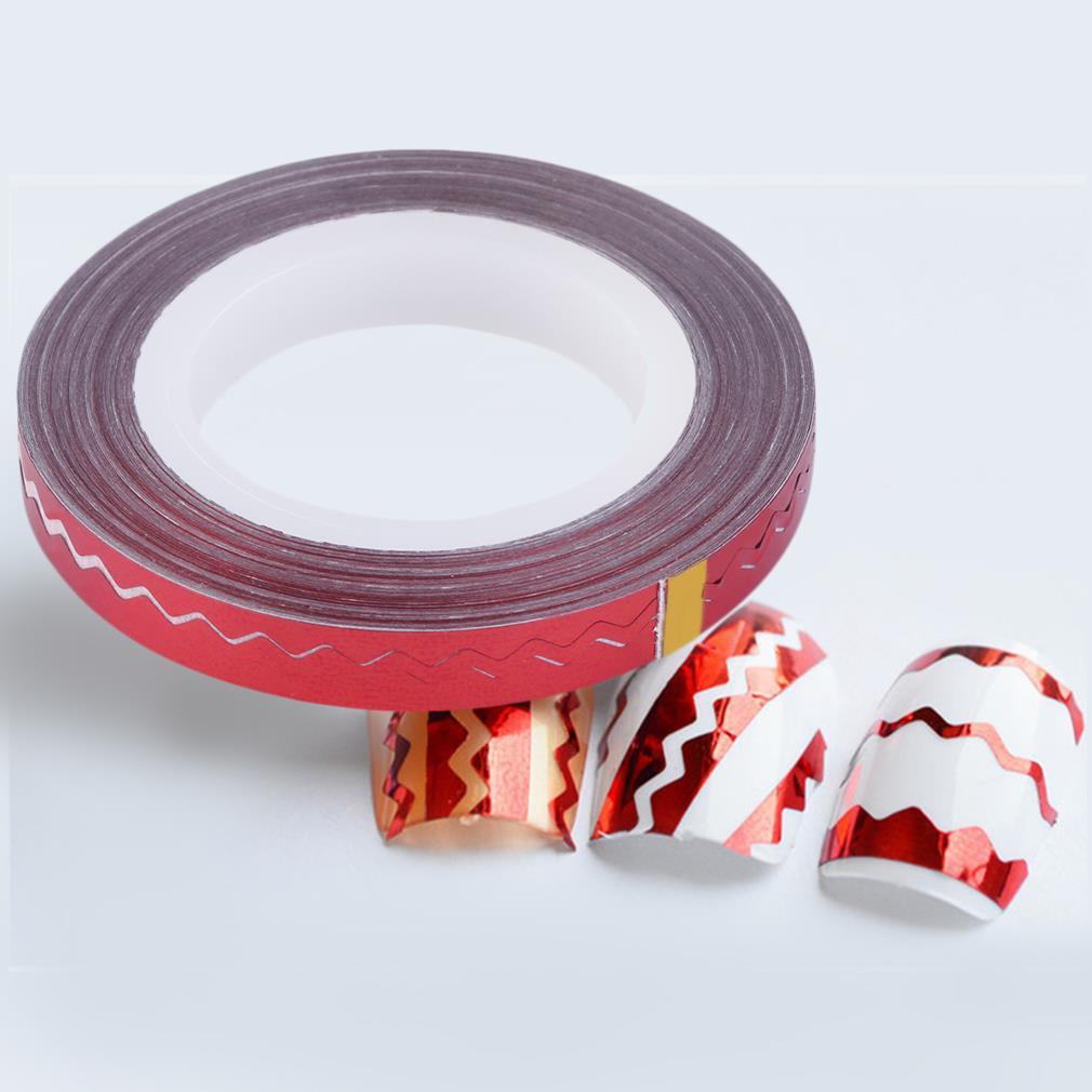 Лента для дизайна ногтей, красный голографик, 20 м