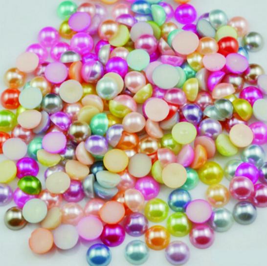 Жемчуг для дизайна ногтей цветной, 1.5 мм, 50 штук