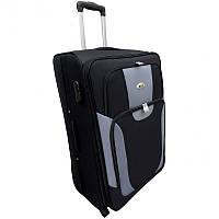 Чемодан сумка RGL 1003 (небольшой) черно-серый