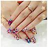 Ромбики для дизайна ногтей. Цвет: малиновый, фото 2