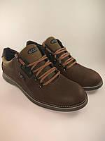Ecco туфли комфорт 44 Размер из натуральной кожи коричневый с оливкой