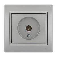 Розетка ТВ оконечная  Lezard Mira 701-1010-130 серый металлик