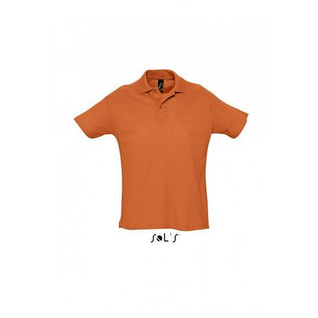 Рубашка поло оранжевая SOL'S SUMMER II, размеры от S до 3XL, плотность 170 г/м2