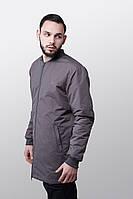 Удлиненная куртка-бомбер Grey Urban Planet