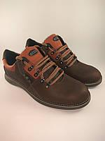 Ecco туфли комфорт 42 Размер из натуральной кожи коричневый с рыжим