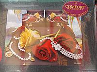 """Комплект постельного белья """"3D Lux COMFORT"""", двуспальный набор, 190x230, розы с драгоценностями, фото 1"""