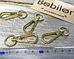 Карабин золото 13мм с круглым ушком, фото 2
