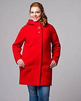 Пальто весеннее с капюшоном букле, фото 1