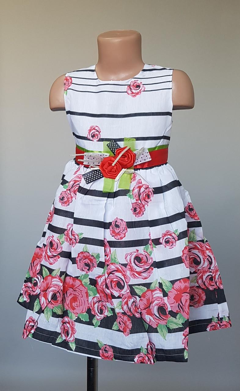 Нарядное платье для девочек украшенное розами
