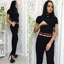 """Стильные женские брюки """"Alex"""" с поясом и корсетом (3 цвета), фото 3"""