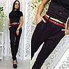 """Стильные женские брюки """"Alex"""" с поясом и корсетом (3 цвета), фото 5"""