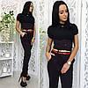 """Стильные женские брюки """"Alex"""" с поясом и корсетом (3 цвета), фото 6"""