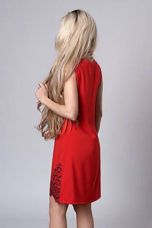 """Молодежное красное платье """"Милена"""", фото 2"""