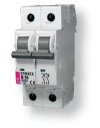 Авт. выключатель ETIMAT 6  2p D 1A (6kA)