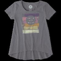 Детская футболка для девочек Life Is Good Girls Hello Sunshine Scoop Neck Swing Tee