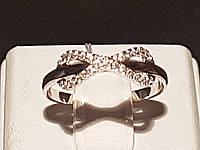 """Золотое кольцо """"Бесконечность"""" с фианитами. Артикул КВ1076Би"""