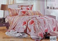 Сатиновое постельное белье евро ELWAY 4146
