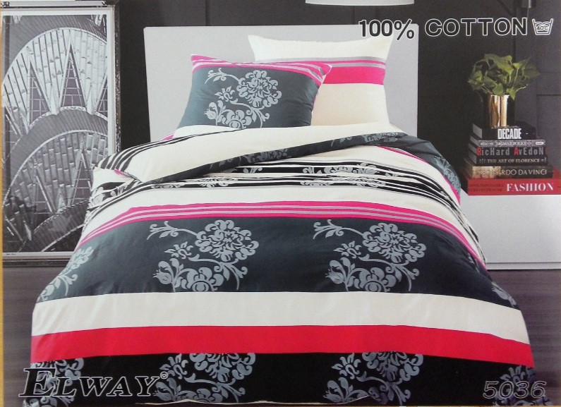 Сатиновое постельное белье евро ELWAY 5036 - СК-текстиль в Харькове