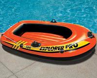 Надувная одноместная лодка explorer pro 100 intex 58355