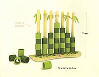 Гигантская игра Quattro бамбуковая (высота 73 см)