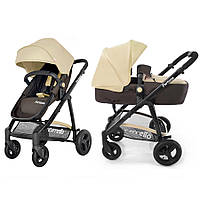 Детская универсальная коляска трансформер CARRELLO Fortuna CRL-9001 2в1 BROWN&BEIGE