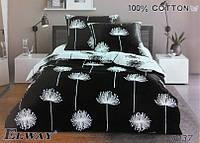 Сатиновое постельное белье евро ELWAY 5037