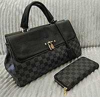 Модная сумка Louis Vuitton Louis Vuitton черная в шашку